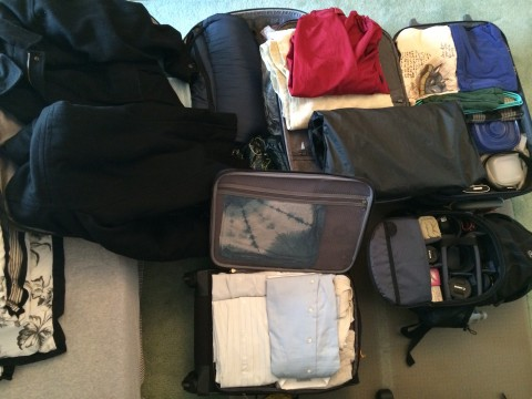My life fits into three suitcases and a backpack.